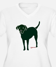 Tripawds Rear Leg Black Lab T-Shirt