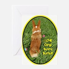 Corgi Bunny Butts Greeting Card