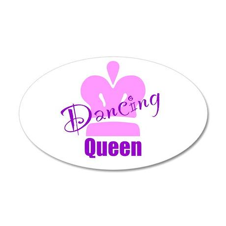 Dancing Queen 22x14 Oval Wall Peel