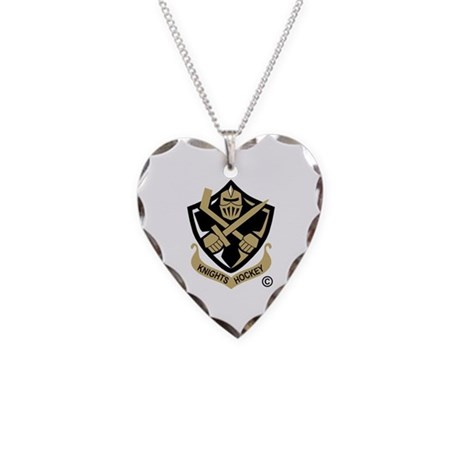 CA Knights Hockey Necklace Heart Charm