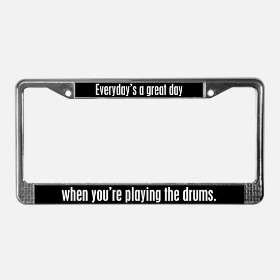 Playing Drums License Plate Frame