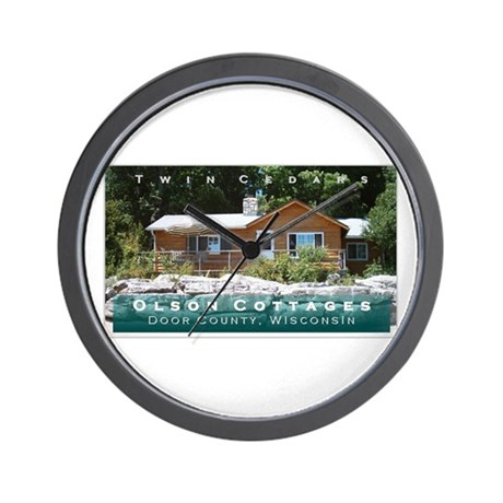Olson Cottages Door County Wall Clock