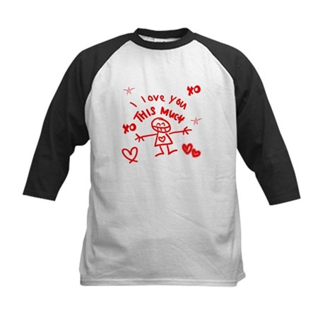 I Love You This Much Kids Baseball Jersey