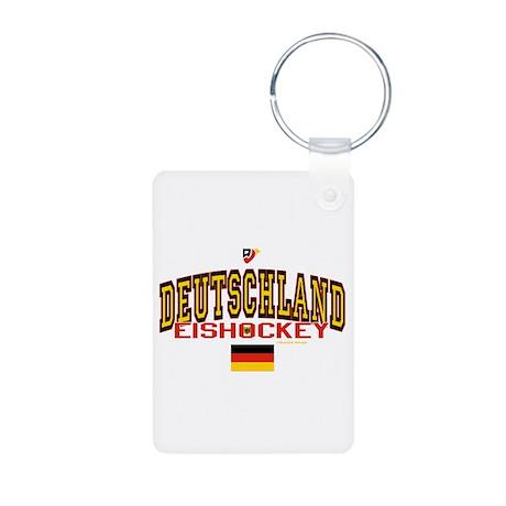 DE Germany Hockey Deutschland Aluminum Photo Keych