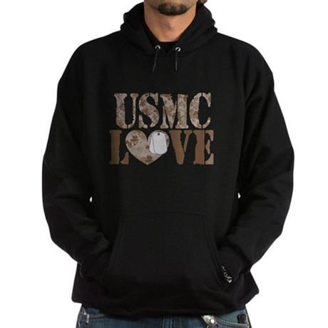 USMC Love Hoodie (dark)