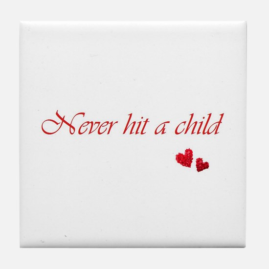 Child Abuse Awareness & Love Tile Coaster
