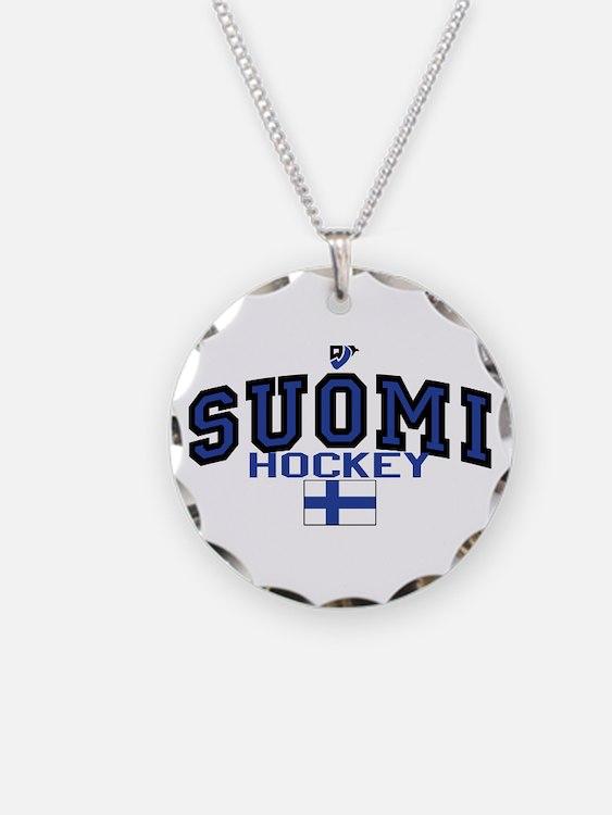 Finland(Suomi) Hockey Necklace