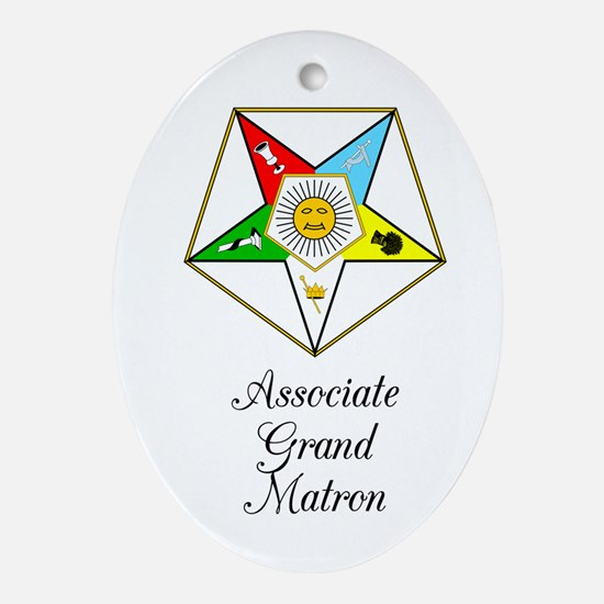 Associate Grand Matron Ornament (Oval)