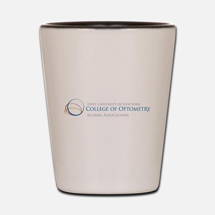 Cute College of optometry Shot Glass