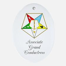 Associate Grand Conductress Ornament (Oval)