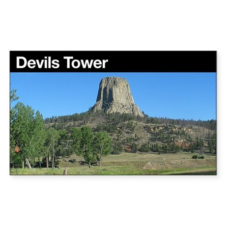 Devils Tower NM Rectangle Sticker