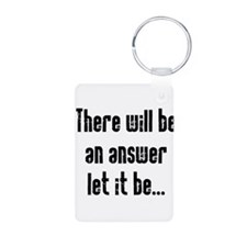 There will be an Answer Aluminum Photo Keychain