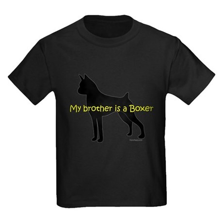 My Brother is a Boxer Kids Dark T-Shirt