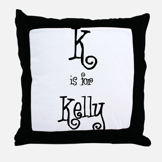 K Is For Kelly Throw Pillow