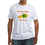 Kentucky is Bigger than France Fitted T-Shirt