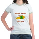 Kentucky is Bigger than France Jr. Ringer T-Shirt
