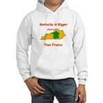 Kentucky is Bigger than France Hooded Sweatshirt