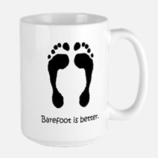 Large Mug - Barefoot Is Better