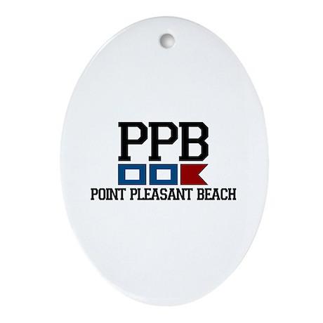 Point Pleasant Beach - Nautical Flags Design Ornam