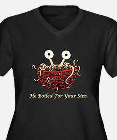 He Boiled For Your Sins Women's Plus Size V-Neck D