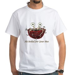 He Boiled For Your Sins White T-Shirt