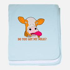 Milk baby blanket