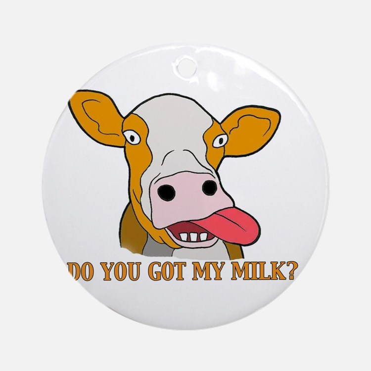 Milk Ornament (Round)