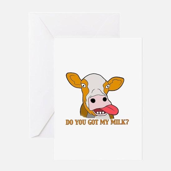 Milk Greeting Card