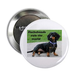 Dachshunds Rule the World Button