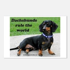 Dachshunds Rule Postcards (Package of 8)