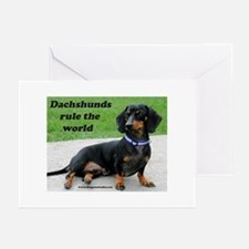 Dachshunds Rule Greeting Cards (Pk of 10)