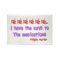Psych Nurse III Rectangle Magnet (100 pack)
