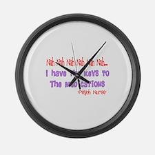 Psych Nurse III Large Wall Clock