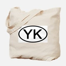 YK - Initial Oval Tote Bag