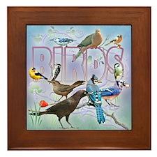Bird Friends Framed Tile