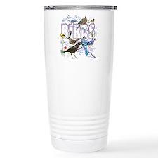 Bird Friends Ceramic Travel Mug
