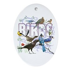 Bird Friends Ornament (Oval)