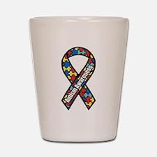 Autism Ribbon Shot Glass
