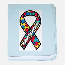 Autism Ribbon baby blanket