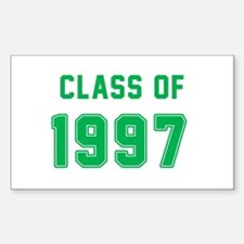 Class of 1997 Green Decal