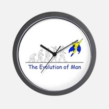 The Evolution of Man Wall Clock