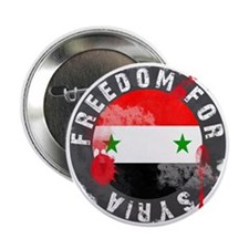 """Freedom for Syria bloody 2.25"""" Button"""