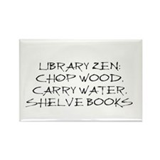 Library Zen Rectangle Magnet