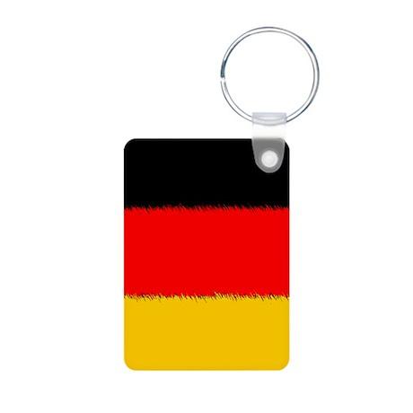 German Flag Aluminum Photo Keychain