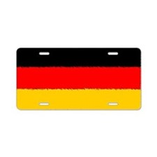 German Flag Aluminum License Plate