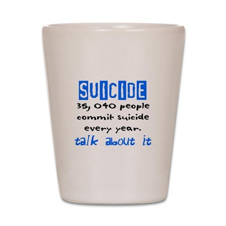 Suicide Statistics Shot Glass