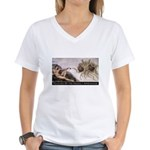 Touched By His Noodly Appenda Women's V-Neck T-Shi