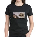 Touched By His Noodly Appenda Women's Dark T-Shirt