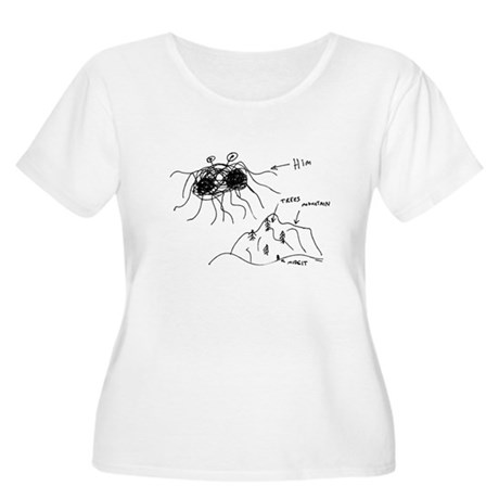 Original Drawing Women's Plus Size Scoop Neck T-Sh