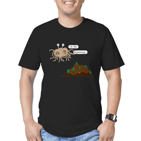 In The Beginning Men's Fitted T-Shirt (dark)